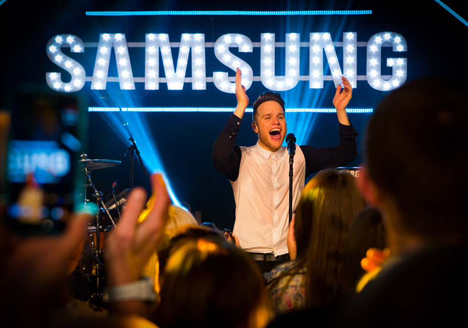 Olly Murs live performance Samsung Music StillMoving