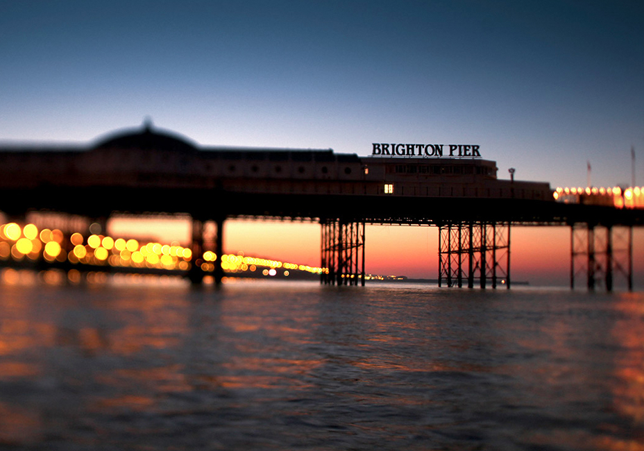 Brighton Pier Palace Pier sunset ocean coast StillMoving