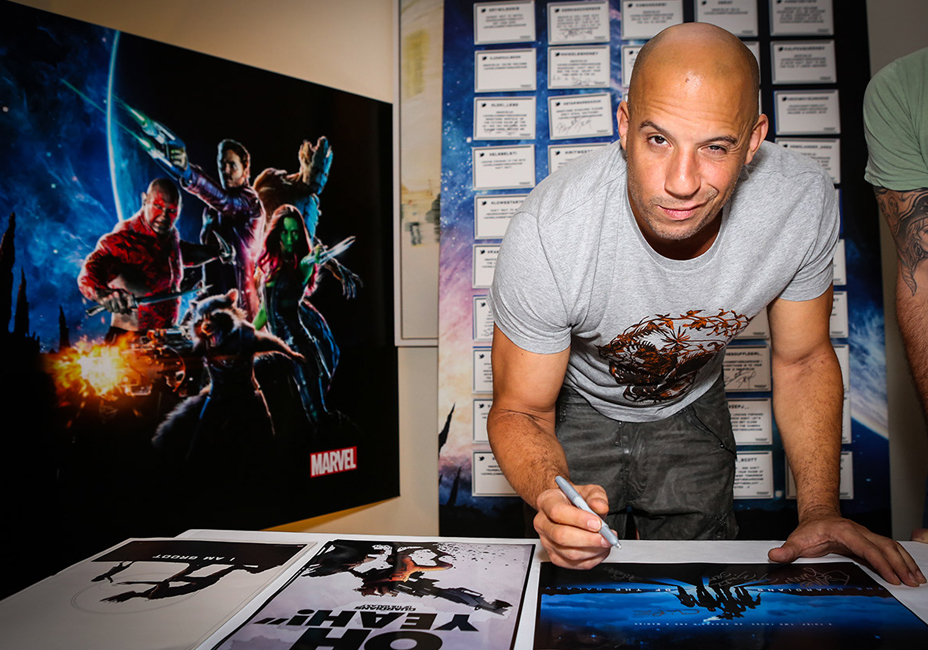 Vin Diesel Guardians Of The Galaxy Groot Marvel