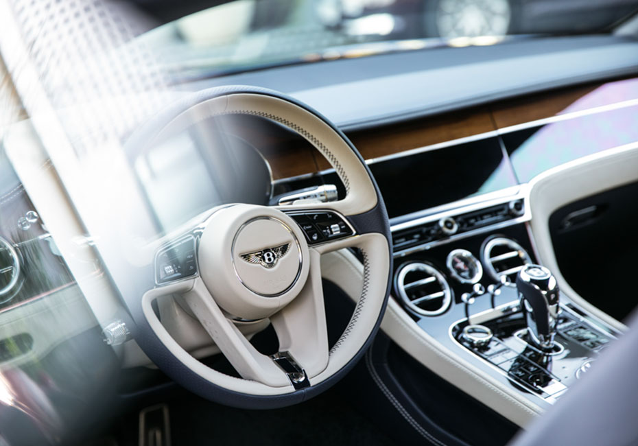 inside of Bentley